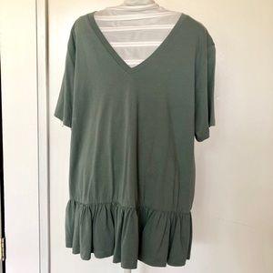 Green ASOS v neck t-shirt
